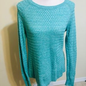 Teal/blue american Eagle cableknit sweater